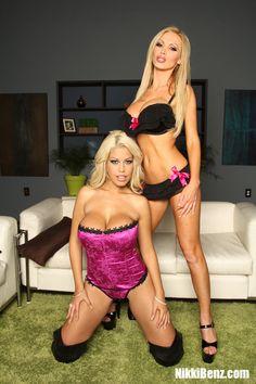 Nikki Benz playing with BridgetteB.