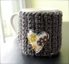Love for the Drink - Mug Cozy with Heart
