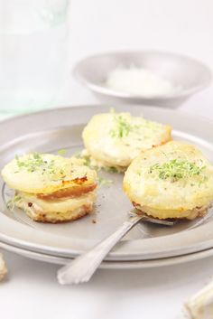 Parmesan Scalloped Potato Stacks with Ham