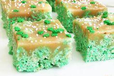 Caramel Rice Krispy - St Patricks Day Treat Ideas