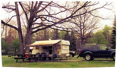 camping may 2012 parker dam with our 1966 Winnebago Travel Trailer, via Flickr.