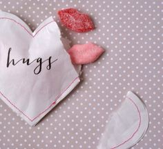 hugs + kisses | diy valentines cards.