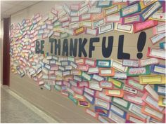Looking for a nice Thanksgiving display for your bulletin board or hall? Download the free templates to help make this display.