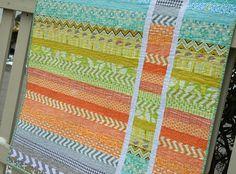 Strip and Flip baby quilt by @Jess Pearl Pearl Pearl Liu Kelly #sewcraftyjess