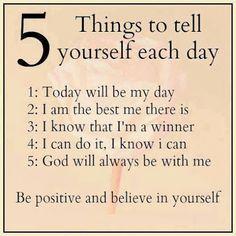 Positive affirmations. NC