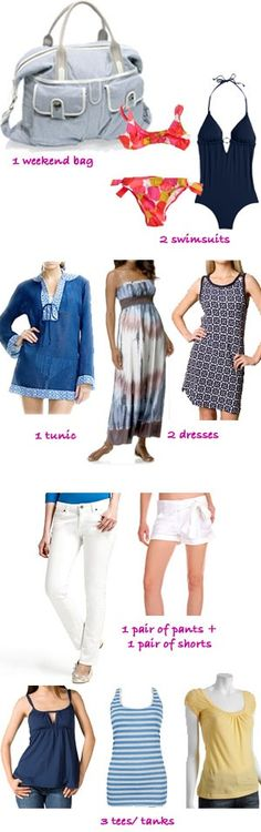 beach weekend packing list -- @Wendy Felts Savino, I think we can do even better than this. ;-)