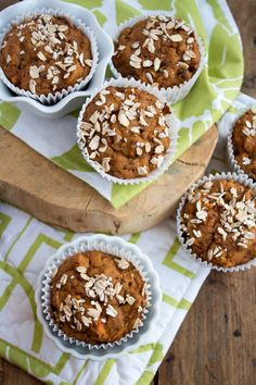 Whole Wheat & Vegan Carrot Cake Muffins recipe from @fANNEtasticfood