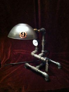 Industrial Desk Lamp Loft Cast Iron Steampunk Architect Draftsman Work Bench NYC | eBay