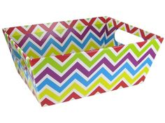 Chevron Box with Cut-Out Handles