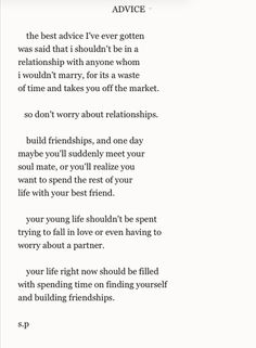 build a friendship and become best friends, don't always worry about falling in love first.