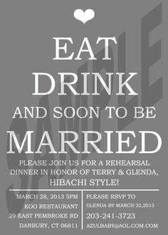 Wedding Rehearsal Dinner Invitation by WeddingsByJamie on Etsy