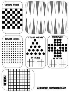 printable page for games in a tin