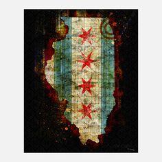 Tim Jarosz: Chicago Metal Print 16x20
