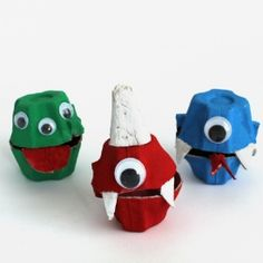 Make treat holders that look like little monsters from egg cartons