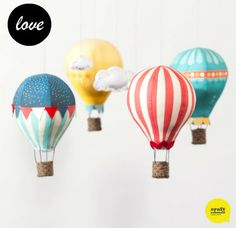 Bondville: Craft Schmaft hot air balloon mobile diy craft kit