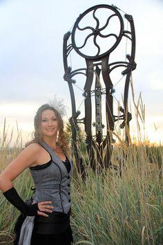 """the """"machine""""  myself at the Idaho Botanical Garden"""
