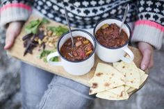 Bean chili with walnuts and chocolate from greenkitchenstories.com