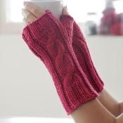 One Cable Mitts - via @Craftsy