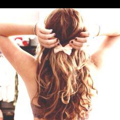 Bow in hair :)