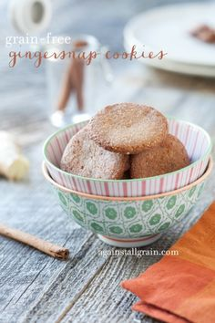 Gluten-Free Gingersnap Cookies - Danielle Walker's Against all Grain