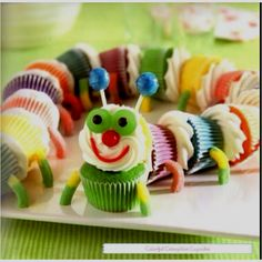 """Cool kids cake idea. For little Bella who loves the """"Hungry Caterpillar"""""""