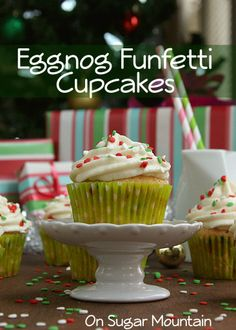 Eggnog Funfetti Cupcakes (recipe)