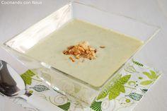 Neus cocinando con Thermomix: Crema de calabacin con chips de cebolla
