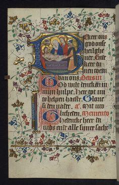 Illuminated manuscript, Book of Hours in Dutch, Entombment, Walters Manuscript W.188, fol. 81v by Walters Art Museum Illuminated Manuscripts, via Flickr
