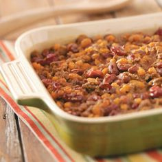 Cherry Baked Beans Recipe from Taste of Home