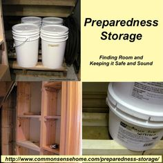 Preparedness Storage – Finding Room and Keeping it Safe and Sound plus Common Sense Preparedness Link Up