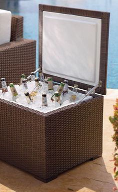 Woven Ice Chest.