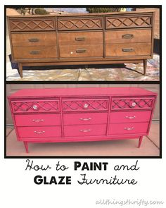 great directions for spray painting and glazing furniture to bring new life to it.