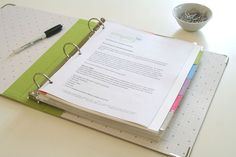 How to Create a Home Reference Binder - link to a free guide. **updated link