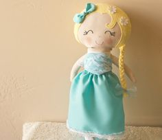 Frozen Elsa Plush Doll Soft Frozen Elsa Doll by littlesweetoes, $42.00