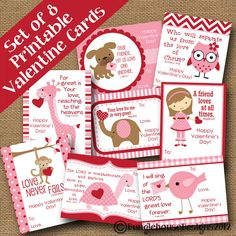 DIY PRINTABLE Christian Bible verse Valentine's Day cards.
