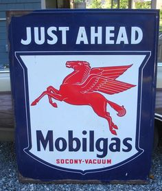 MOBIL GAS STATION SIGN