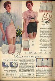1958 sears catalog - my mother wore a girdle foreverrrrrr. memori, 50s