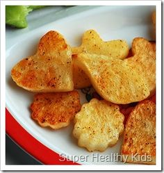 Baked, cute potatoes...healthy style