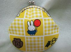 Handmade Coin Purse  Miffy in yellow by Apursemarket on Etsy, $20.00