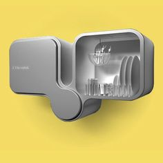a wall-mounted dishwasher designed by Toma Brundzaite for Electrolux