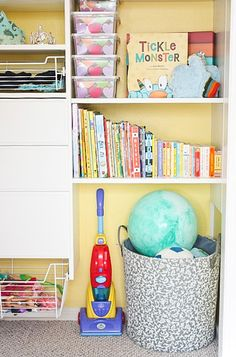 Organized toys in a kid's closet -- Ask Anna