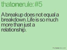 Breakup versus Breakdown