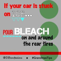 Tips and Tricks for getting your car off of ice!  #grandmastips #diyconfessions #diy