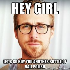 I knew there was a reason I have so much nail polish;)