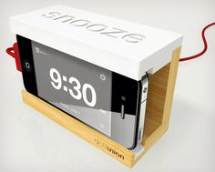 Snooze iPhone Alarm Dock | Cool Material
