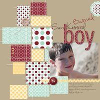 Great use of scraps of patterned papers page boys, scrapbook layouts, color combos, scrapbook idea, scrapbook page layouts, paper scraps, scrapbook pages, the block, craft ideas