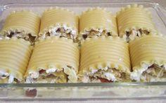 Chicken and bacon lasagna roll ups