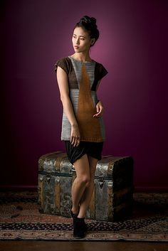 Ravelry: Shaped-Intarsia Tunic pattern by Daniela Nii  (Interweave Knit.Wear Fall/Winter 2013)