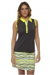 Women's Golf Clothes I GG Blue Movement Pull-On Women's Golf Skort