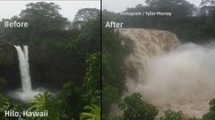 Iselle completely transformed this waterfall.